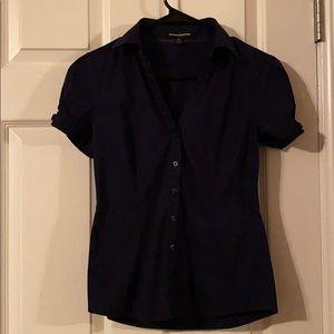 Express Button Down Work Shirt in Dark Navy